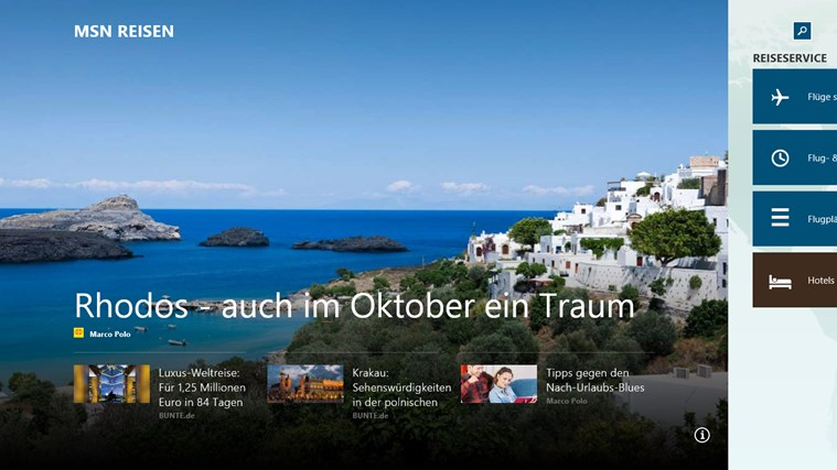MSN Reisen Screenshot 0