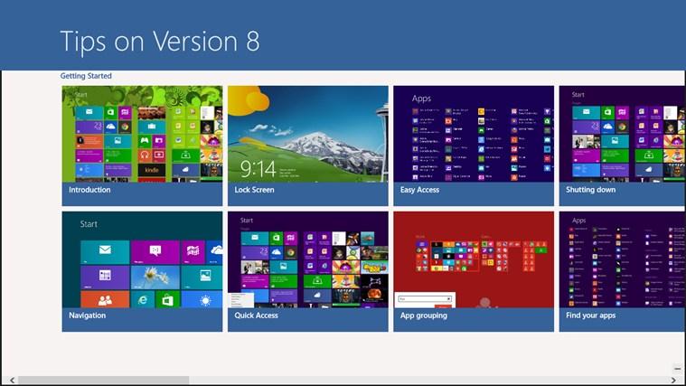 Tips on Version 8.0 screen shot 0