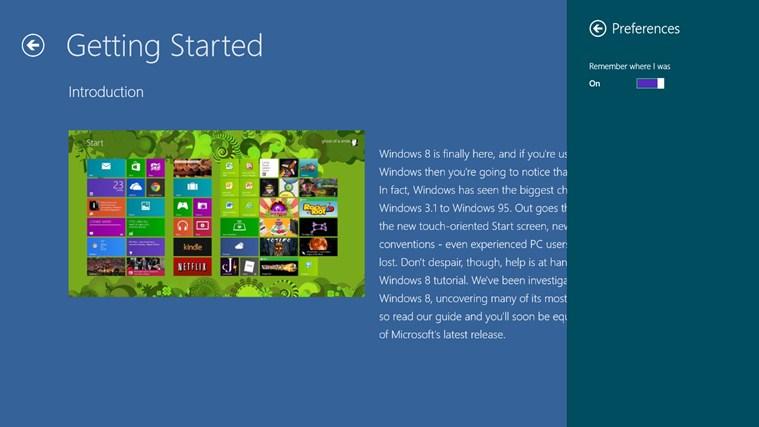 Tips on Version 8.0 screen shot 2