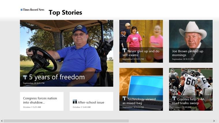 Times Record News screen shot 0