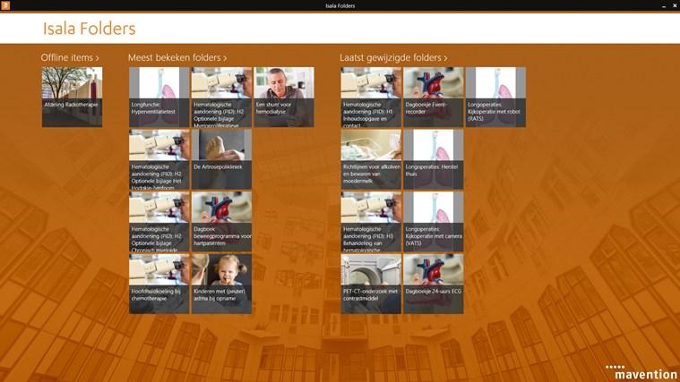 Isala folders schermafbeelding 0
