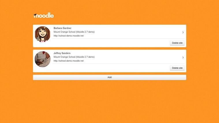Moodle Mobile screen shot 0