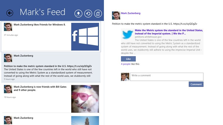 Facebook+ Lite screen shot 2
