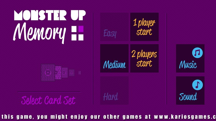MonsterUp Memory screen shot 0