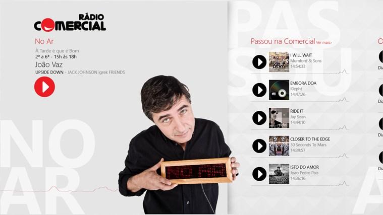 Rádio Comercial captura de ecrã 0