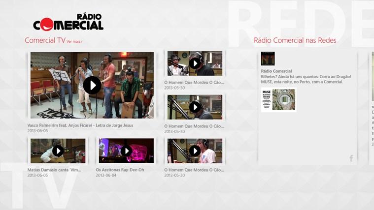 Rádio Comercial captura de ecrã 2