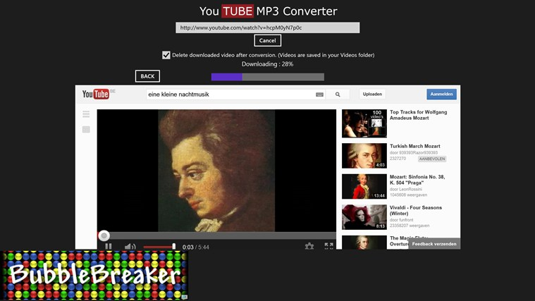 Youtube MP3 Converter screen shot 0