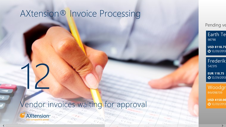 AXtension® Invoice Approval screen shot 0