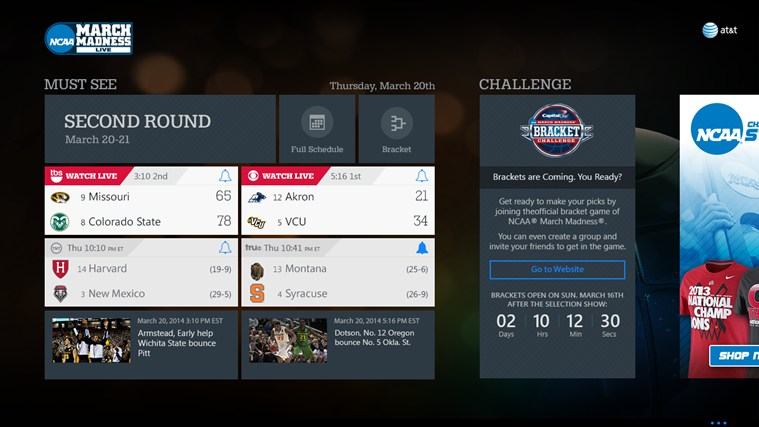 NCAA® March Madness® Live screen shot 2
