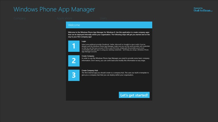 Windows Phone App Manager screen shot 0