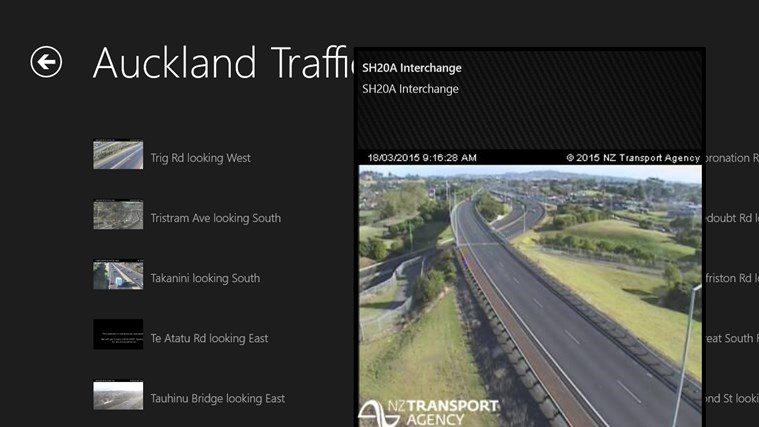 Auckland Traffic screen shot 4