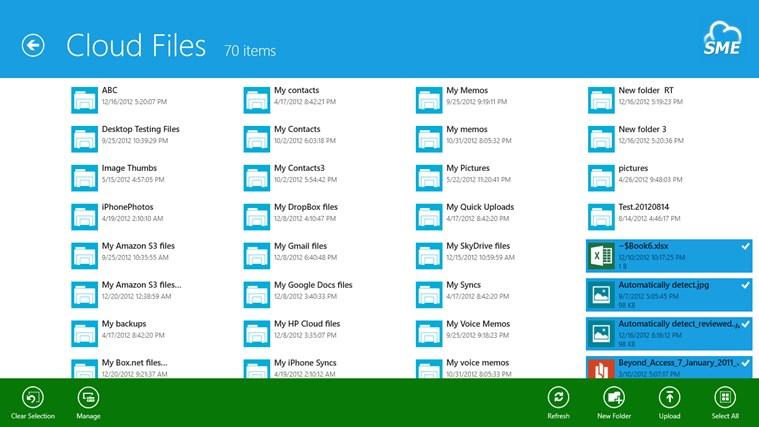 Cloud File Explorer screen shot 4