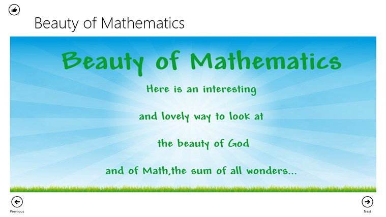 Beauty of Math screen shot 0