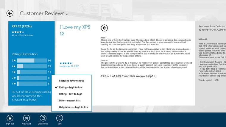 Dell Shop screen shot 2