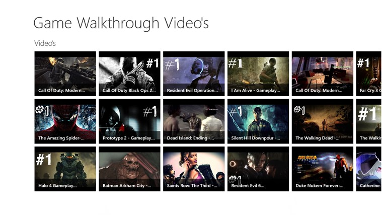 Game Walkthroughs - Video's screen shot 0