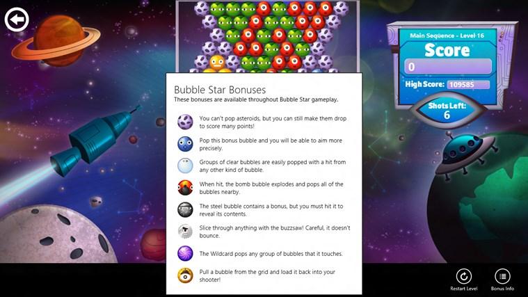 Bubble Star screen shot 4