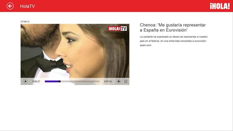 Hola.com captura de pantalla 2