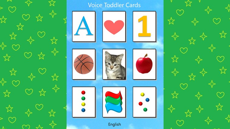 Voice Toddler Cards screen shot 0