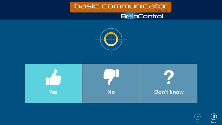 BrainControl - Basic Communicator Touch screen shot 2