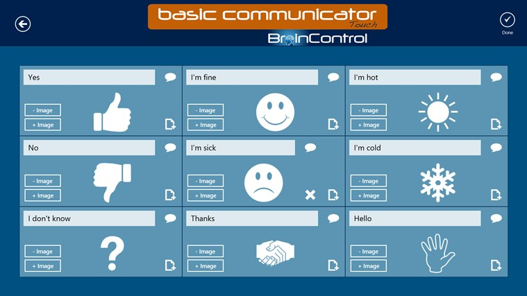 BrainControl - Basic Communicator Touch screen shot 6