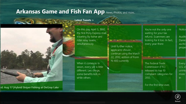 Arkansas Game and Fish Fan App screen shot 2