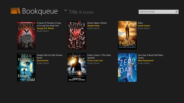 Bookqueue screen shot 0