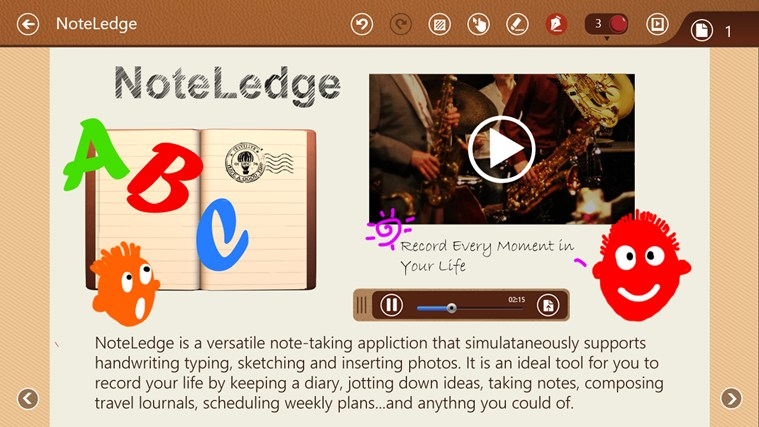 NoteLedge - Note, Sketch, Audio & Video screen shot 0
