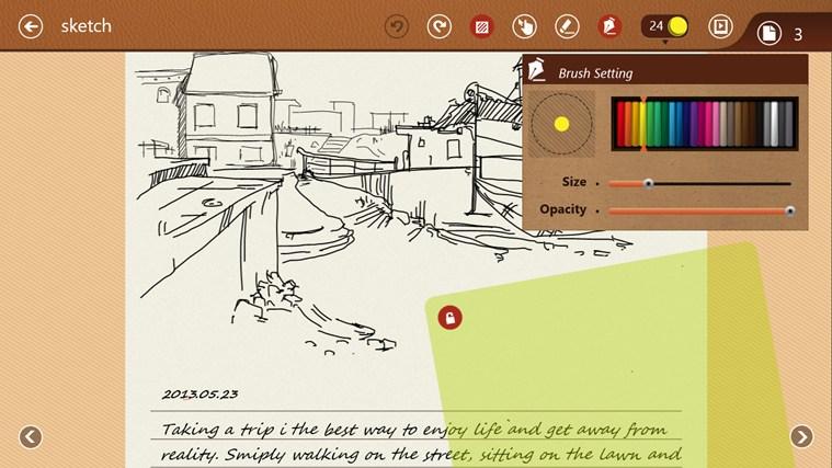 NoteLedge - Note, Sketch, Audio & Video screen shot 2