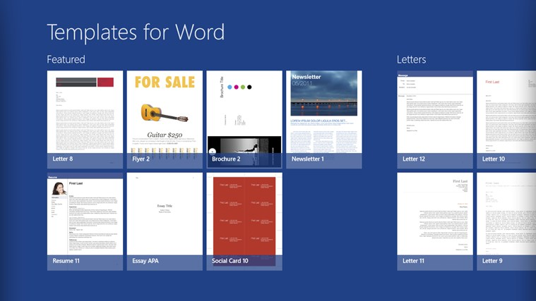 Templates For Microsoft Word - Template