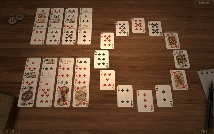 Solitaire 3D screen shot 2