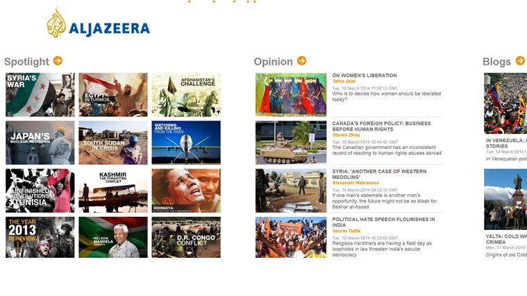 Al Jazeera screen shot 4