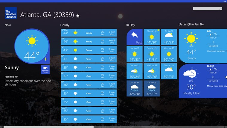 The Weather Channel screen shot 0