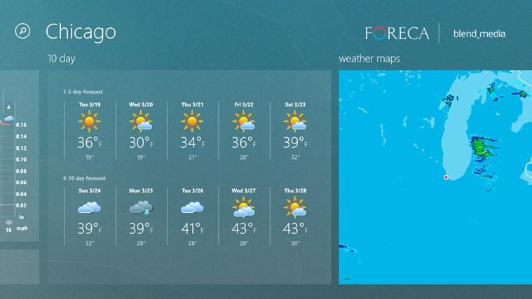 ForecaWeather screen shot 2