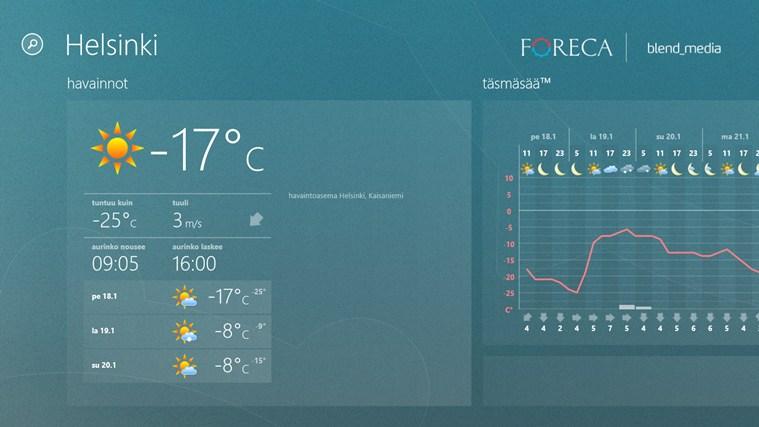 ForecaWeather näyttökuva 0