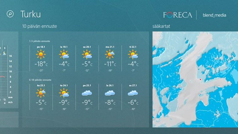 ForecaWeather näyttökuva 2