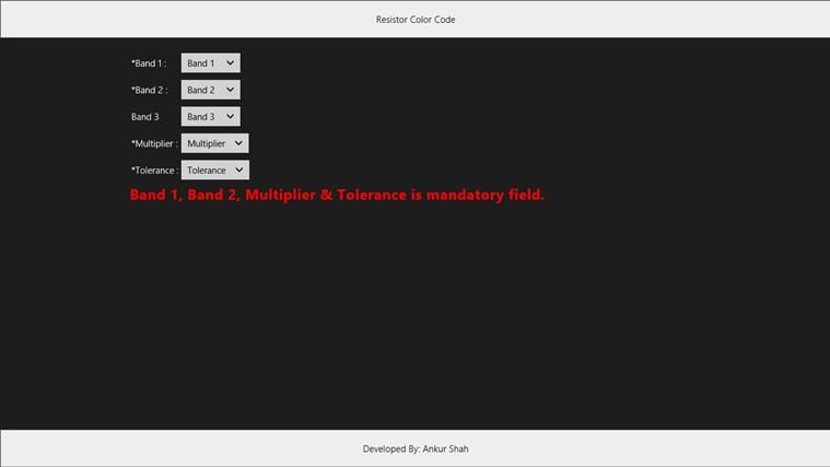 Resistor Color Code captura de tela 0