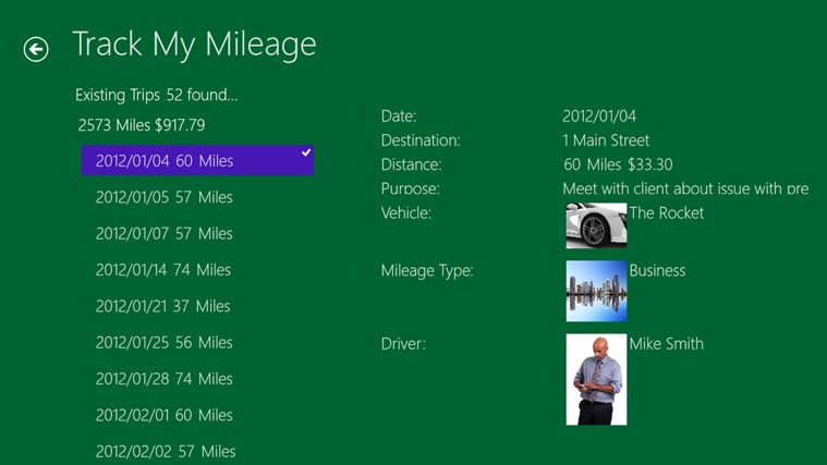 Track My Mileage screen shot 2