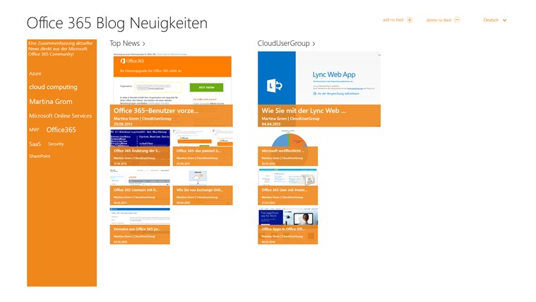 Office 365 BlogNews Screenshot 0