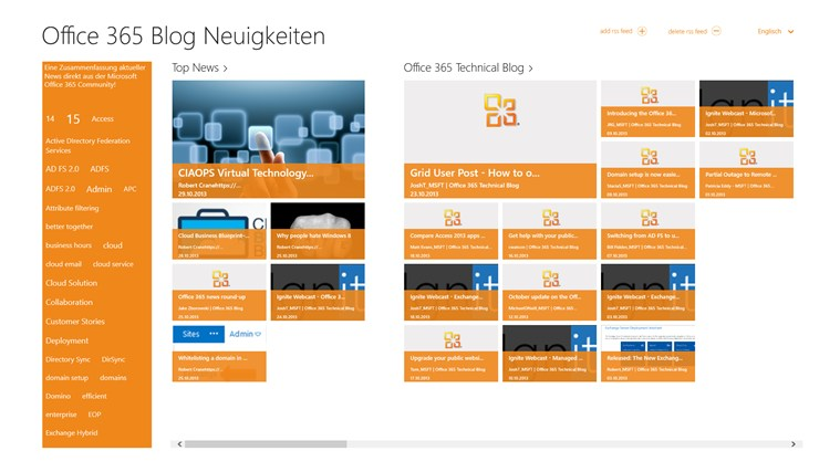 Office 365 BlogNews screen shot 0