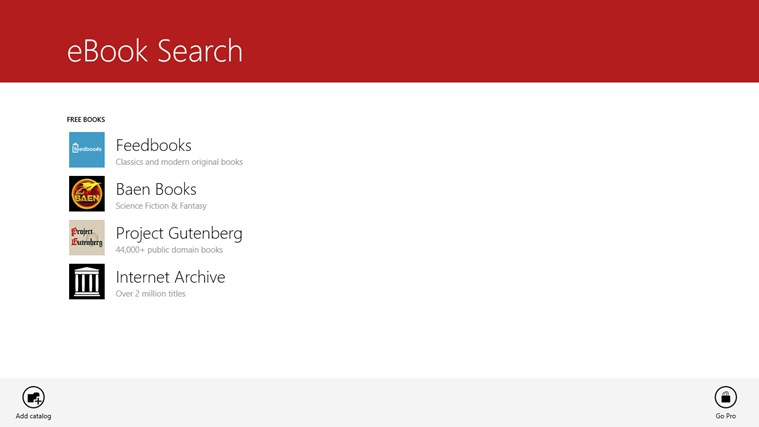 eBook Search screen shot 0