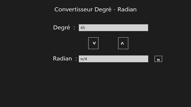 Convertisseur Degré / Radian screen shot 0