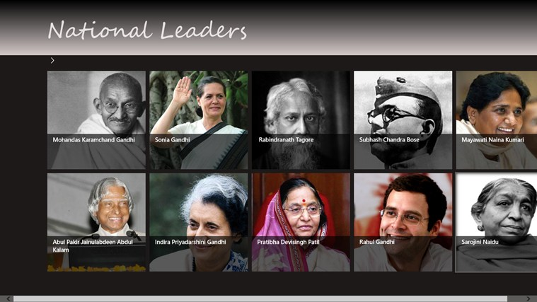 Images of Great Leaders Great Leaders in India Screen