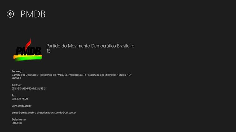 Partidos Políticos captura de pantalla 2