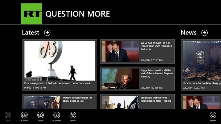 RT News English screen shot 0