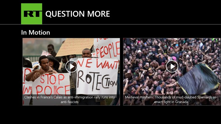 RT News English screen shot 6