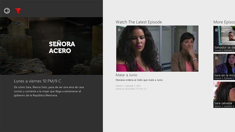 Telemundo NOW screen shot 2