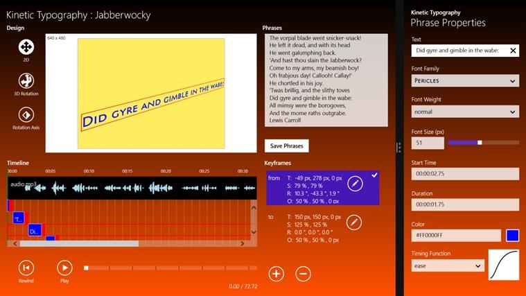 Kinetic Typography screen shot 0