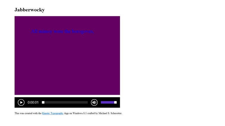 Kinetic Typography screen shot 6