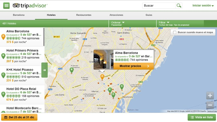TripAdvisor Hotels Flights Restaurants captura de pantalla 2