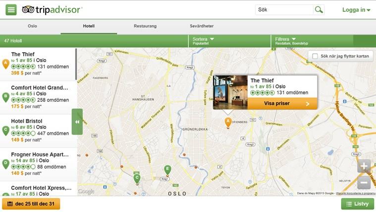 TripAdvisor Hotels Flights Restaurants-skärmbild 2